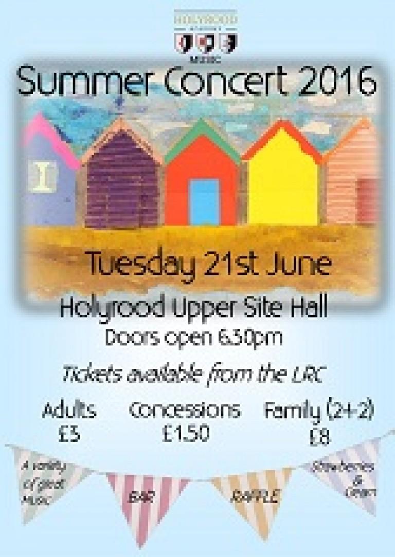 Summer Concert on Tuesday 21st June