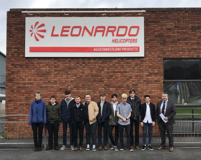Engineering Students visit Leonardo