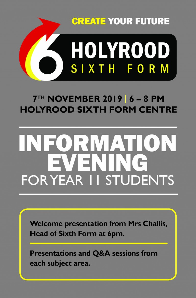 Sixth Form Information Evening for Year 10s