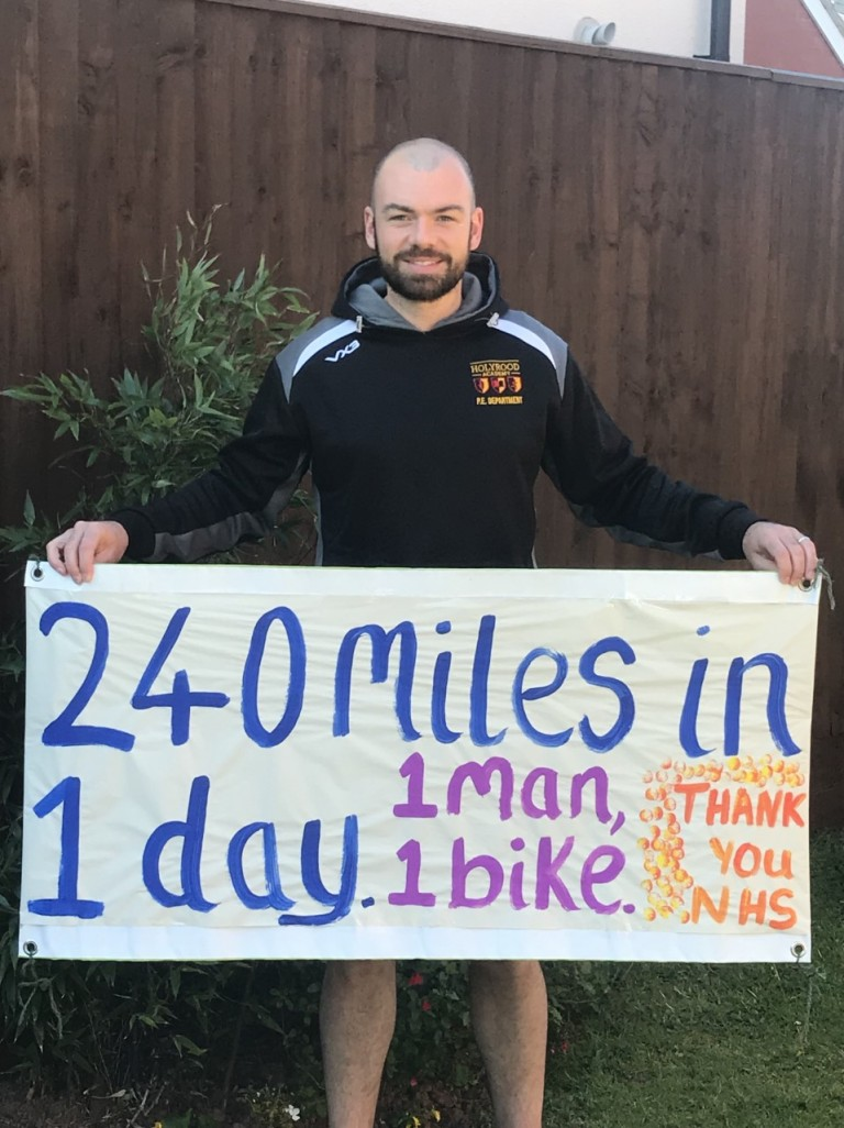 Mr MacCormick Cycles 240 Miles for NHS